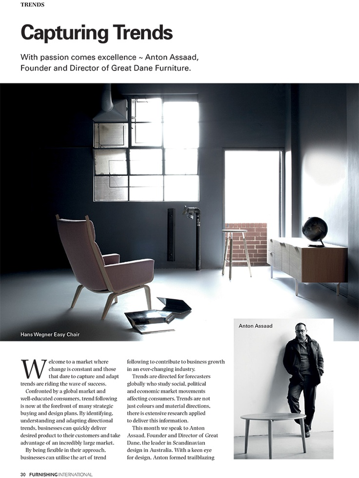 Furnishing International Runs An Insightful Article Focusing On Trend  Forecasting At A Global And Australian Scale