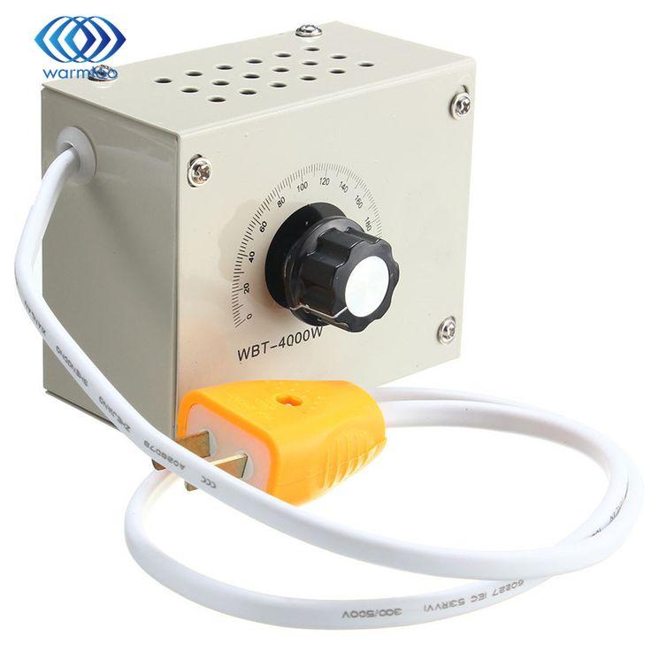 4000W Voltage Rrgulator Speed Fan Motor Tool Controller AC220V Control Zero Latency Superior Heat Dissipation