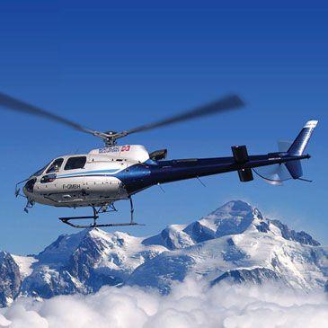 Baptême hélicoptère Mont Blanc Rhône alpes 74 - Sport Découverte