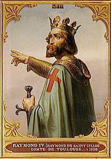 Raymond St. Gilles, crusader, established castle in Tripoli, Lebanon