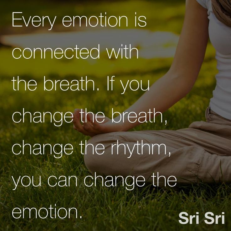 """""""Every #emotion is connected with the #breath. If you change the breath, change the #rhythm, you can change the #emotion."""" - #srisri Ravi Shankar"""