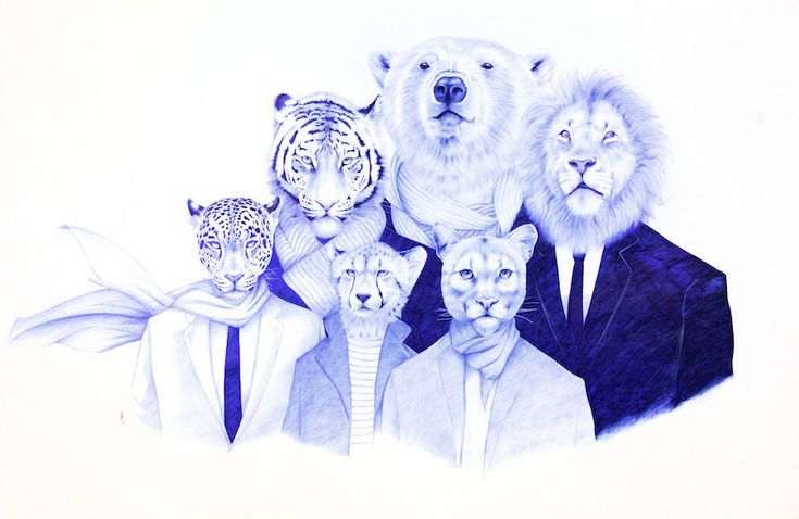 Realistic Pen Illustrations of Half-Men Half-Animals  Youssef Boubekeur is a French artist who explore illustration with a blue pen in his hand. The lines of the pen is precis and indelible at once. It forces the artist to build with and on his mistakes that he integrates fully in his creation process. Youssefs drawing are presented in this surprising monochrome of Prussian blue and royal blue seeming to quiet the hyperrealism and the ultra-precision that characterize them.  This series of…