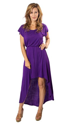 Purple Dress, Hi-Low Maxi Style