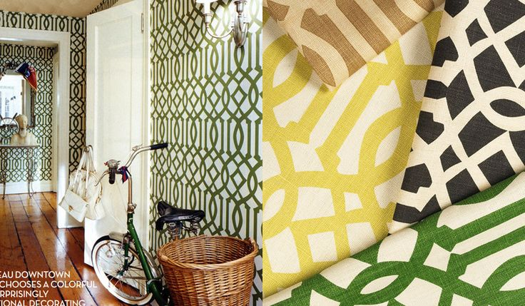 green trellis wallpaper schumacher - photo #15