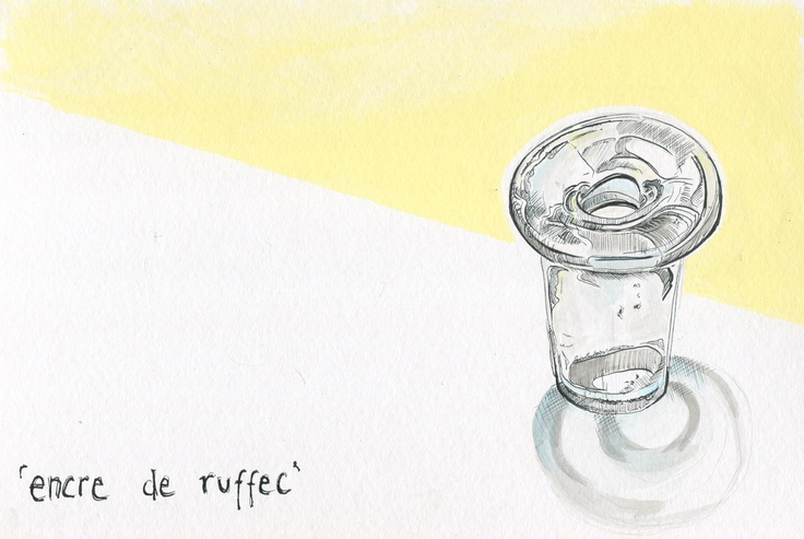 'encre de Ruffec'  tiny ink pot