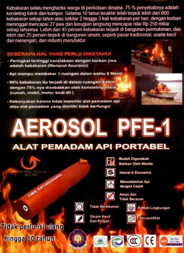 Alat pemadam api mini atau portable fire extinguisher pfe