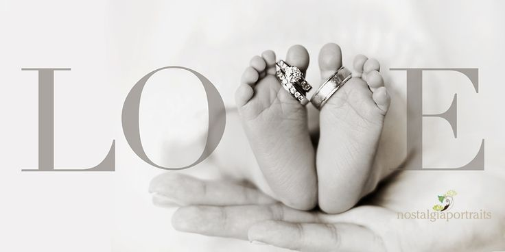 baby toes and wedding rings... love this!