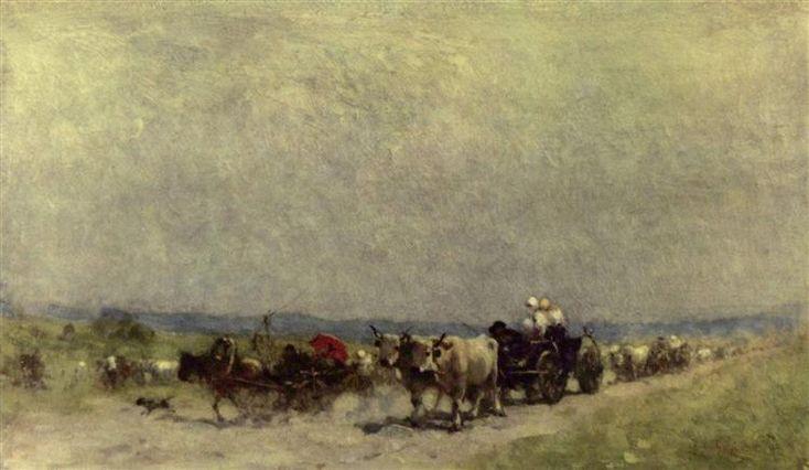 Returning from the fair - Grigorescu Nicolae