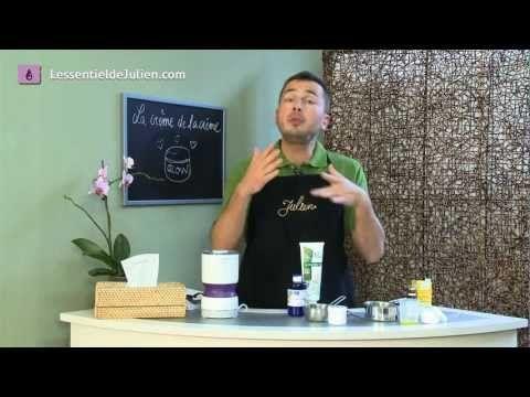 Crème hydratante facile de Julien: pour ma maman!  4c à s d'huile  1 c à s Olivem  6 c à s Hydrolat  1 c à s d'aloe vera  15 gouttes huiles essentielles  Pour la recette: http://www.lessentieldejulien.com/2012/07/une-creme-hydratante-faite-maison-si-cest-facile/