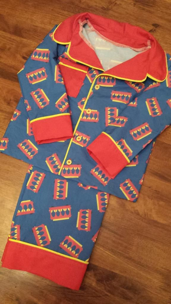 Trolley fabric to make Daniel tiger pajamas