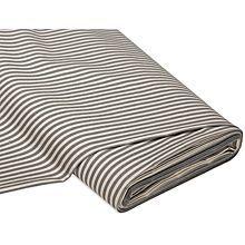 Baumwollstoff 'Streifen', beige/grau