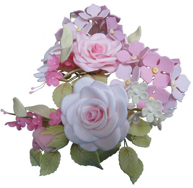 Gum Paste Sugar Hydrangeas and Roses   #sugarflowers #sugarart #sugarcraft #cakeart #cakedecorating #sugarflower #cakeartist #sugarpaste #sugarartist #gumpaste