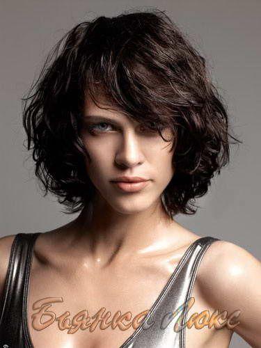 стрижка на средние для вьющихся волос фото 2016 | Идеи причесок Фото + видео