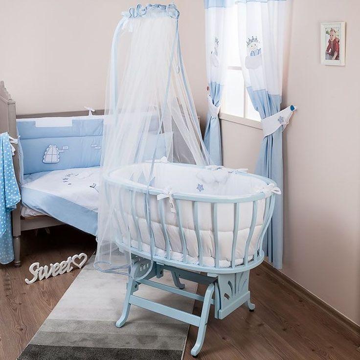 Aybi Little Prince Baby Beşik Uyku Seti Mavi