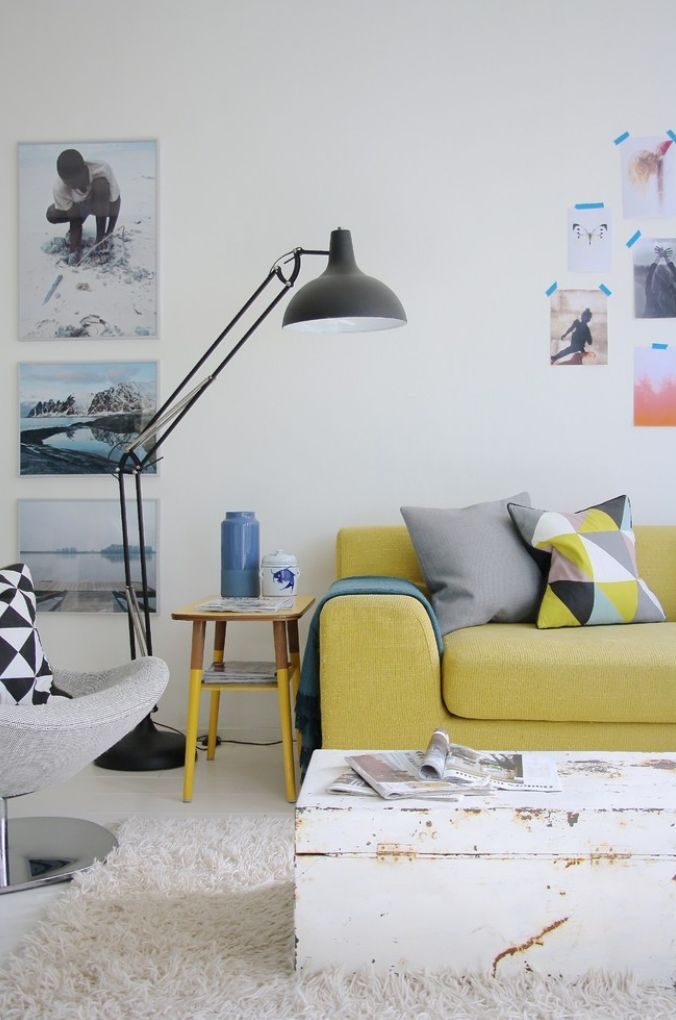 Wow - there's a lot we like about this super-cool living space! Including the bright furnishings and pretty cushions - get the look with the Ferm Living Remix Cushion http://www.nest.co.uk/browse/brand/ferm-living/ferm-living-remix-yellow-silk-cushion
