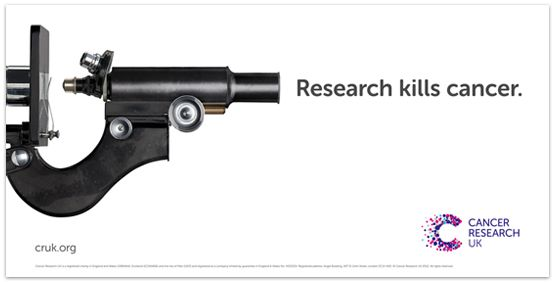 Cancer Research campaign; concept by johnson banks