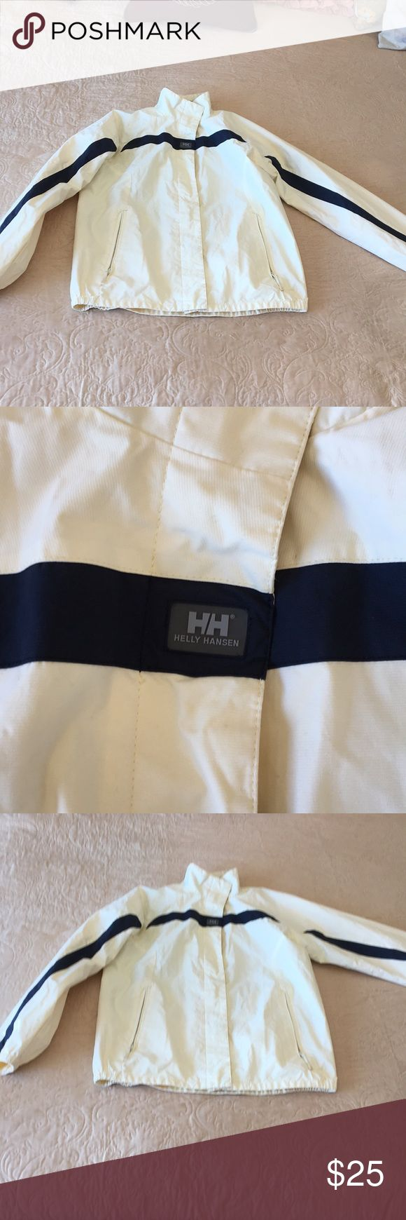 Helly Hansen sailing jacket This is a women's size large but it fits like a small to medium perfect for wind and rain windproof and breathable great for Sailing In great shape Helly Hansen Jackets & Coats