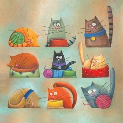 kitties. artist not given