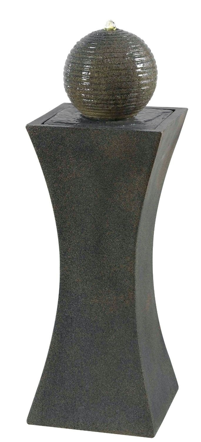 Cannonade Outdoor Solar Floor Fountain is a simple and unique fountain, perfect to place in your garden or patio setting.