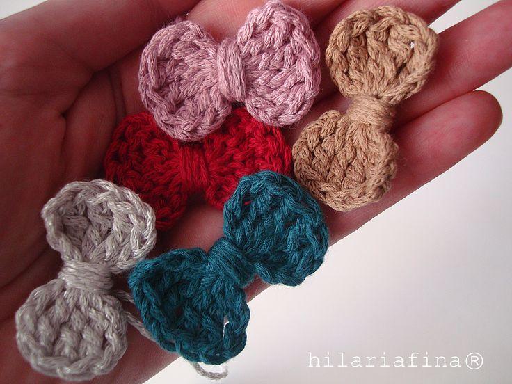 by hf Crochet Little Bows - Tutorial ❥ 4U //