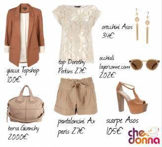 outfit pantaloncini beige - Cerca con Google