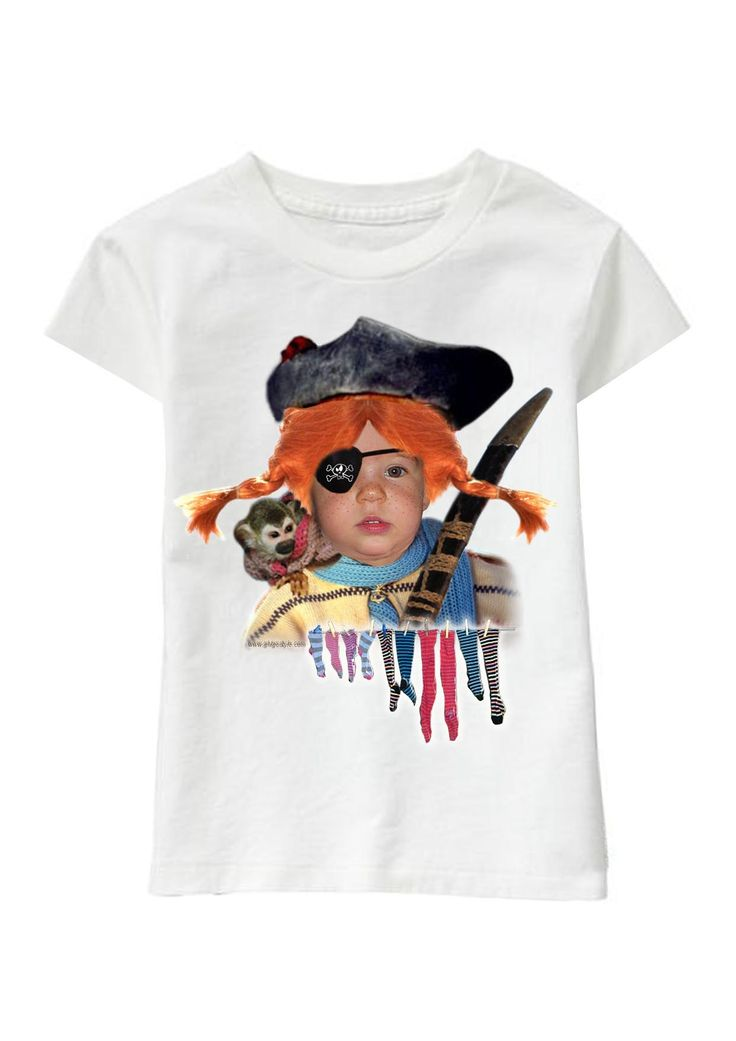 Pirate Girl personalized T-shirt www.ghigostyle.com