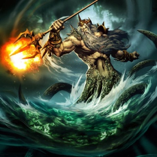 Poseidon - Greek Mythology he doesnt look like man fish he is supposed to look like a human with powers of th sea