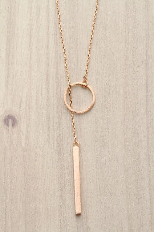Geo Pendants Necklace in Rose Gold
