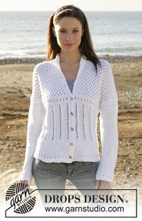 """DROPS vest met ajourmotief van """"Muskat"""" ~ DROPS Design"""