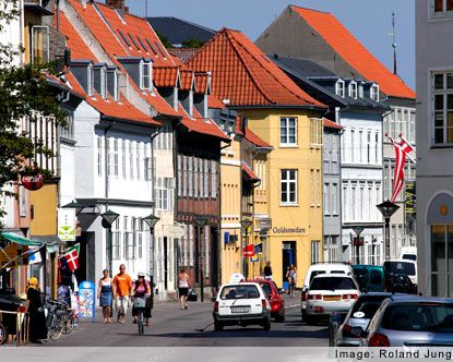 Odense, Denmark.  The birthplace of Han Christian Andersen, 1805–75, Danish poet, novelist, and writer of fairy tales.