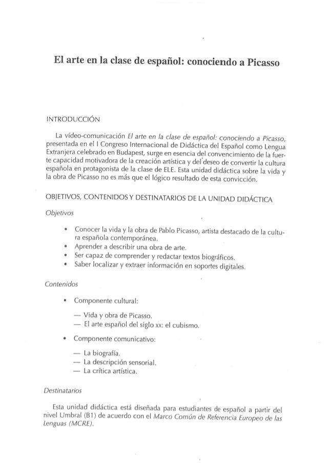 Programación Picasso 6º Primaria Picasso Pintura Guernica