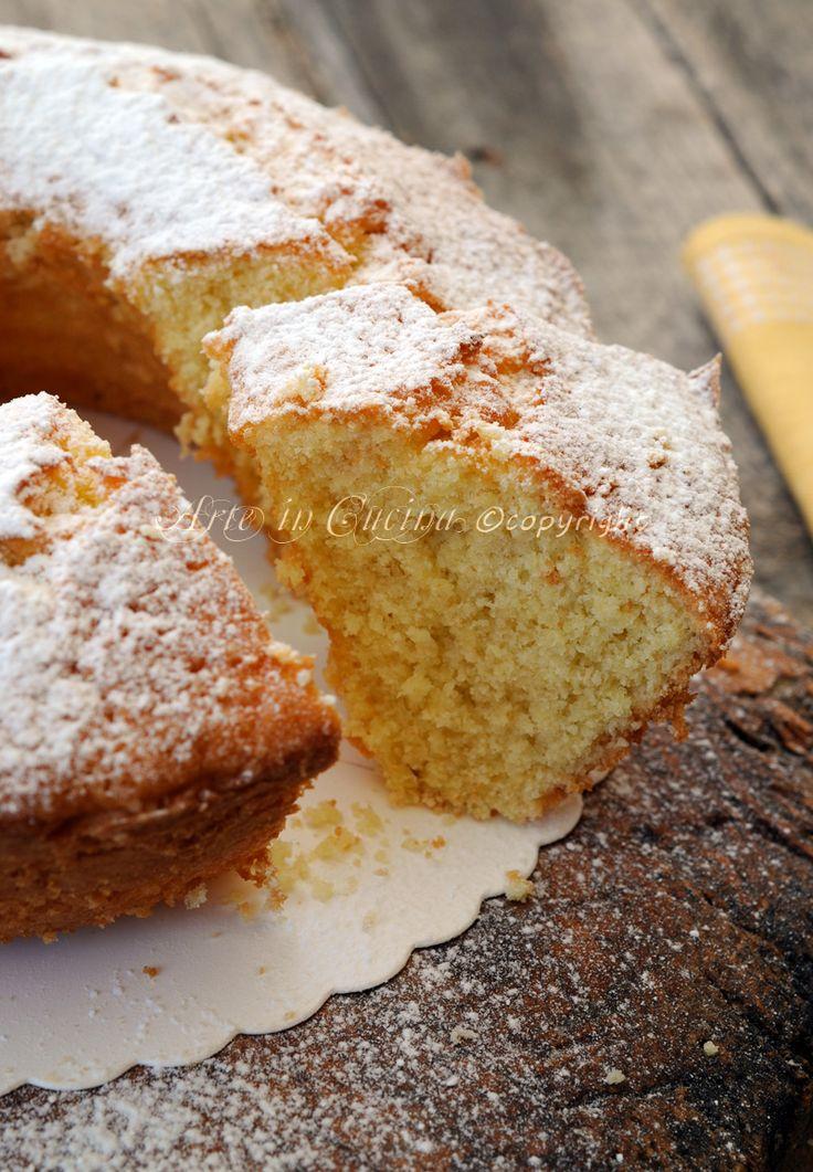 Ciambella alla panna e limone soffice e veloce | Arte in Cucina