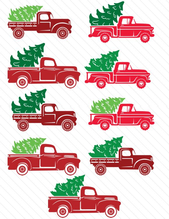 Create Your Own Red Truck https://www.creativefabrica.com/product/christmas-truck-kit-create-truck/ Create Your Own Truck Freebie -...