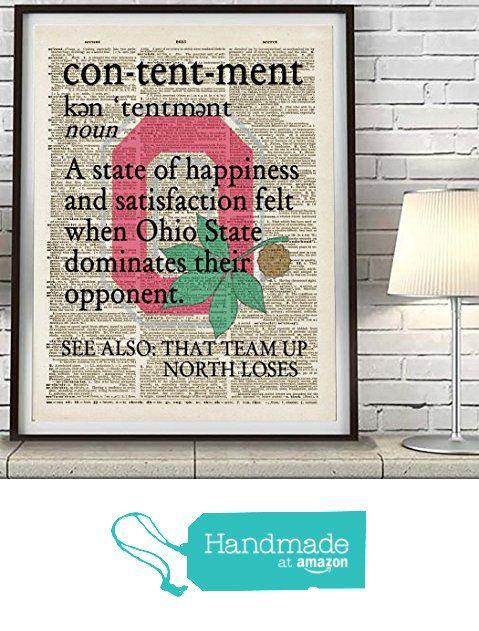 Ohio State Buckeyes dictionary page inspired Art Print, UNFRAMED, funny humorous witty wall & home decor poster, Christmas - Fathers Day - Birthday - Man Cave -Gift for him from Parody Art Prints