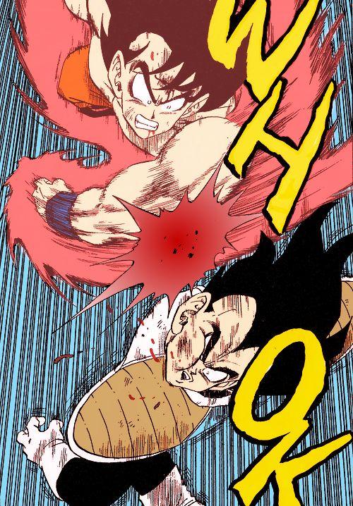 Goku Vs Vegeta by Akira Toriyama // #manga #DBZ