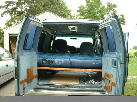 cheap rv how to live in a conversion van camping cargo trailers rvs vans. Black Bedroom Furniture Sets. Home Design Ideas