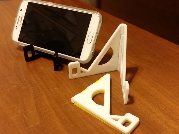 Folding Hinged Phone Stand (for large phones) by Qrome - Thingiverse