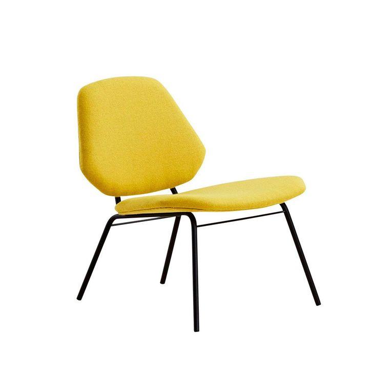 Lean Lounge chair - Mustard yellow from KOPERHUIS