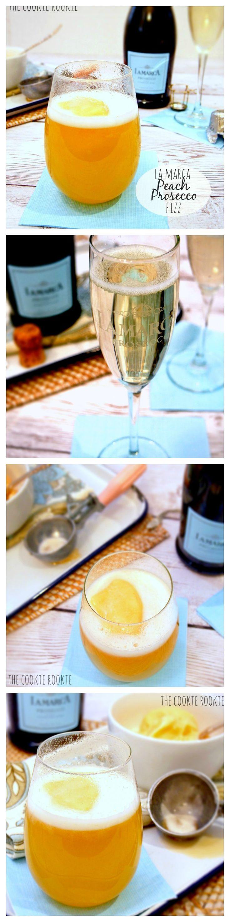 Peach Prosecco Fizz, the perfect #bridal #brunch cocktail!! Peach sorbet and LaMarca Prosecco.  YUM!