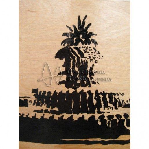 The Pineapple Fountain | B Dean Artwork Listings | Charleston Art Shop