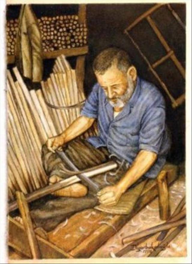 """Sapçılık.. Sap bir aletin, bir kabın elle kullanmaya yarayan bölümüdür. Sapı yapanlara """"sap ustaları"""" denir. Kazma, kürek, çapa, keser bunlardan bazılarıdır. - Saplar eğer balta, kazma gibi fazla güç gerektiren işlerde kullanılacaksa bunlar için meşe, gürgen, kavlak(çınar), dut gibi sağlam keresteli ağaçlar tercih edilir."""