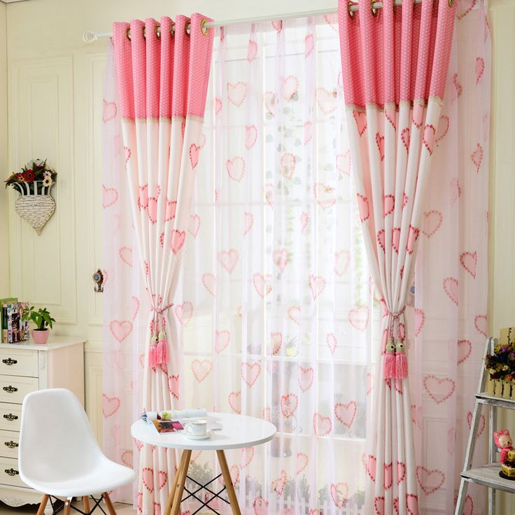 pink color lovely affordable curtains