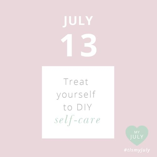JULY 13: Treat yourself to DIY self-care. Facial, manicure, massage - think of something simple you can do at home to treat yourself and your body to some always needed self-care. #tlsmyjuly #selfcare #diy Read about My July, our month dedicated to self-love, and enter to WIN the ultimate self-care pack here: http://www.thelittlesage.com/my-july-2014/