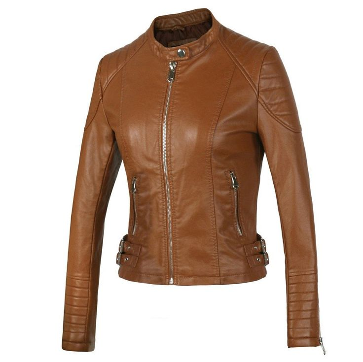 Women's Motorcycle Faux Leather Jacket