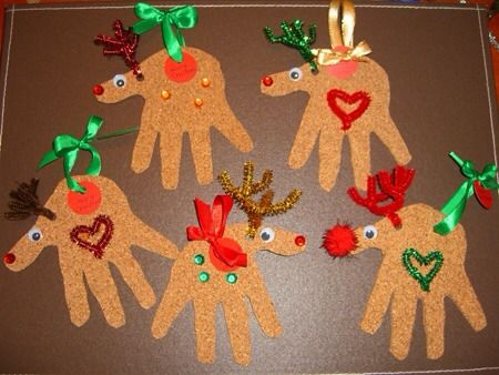 Cute Christmas Ideas For Kids! Website gone but idea is simple for a diy.