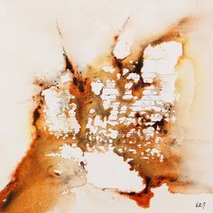 """Warren Mack """"Solar Constant - Inhalation"""" ink on canvas 10"""" x 10"""""""