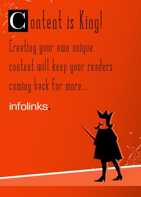 Optimization tip 9: REMEMBER - Content is King! #InfolinksCountdowntoOptimization