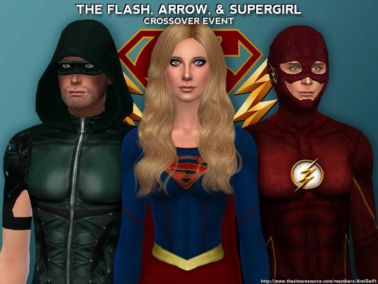 Become your favorite superhero with costumes based on the CW television shows Arrow, The Flash and Supergirl.  Found in TSR Category 'Sims 4 Sets'