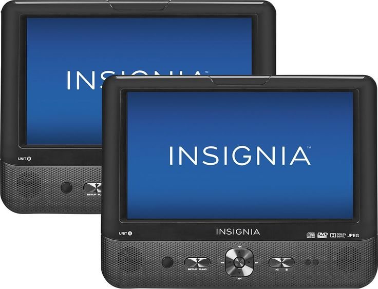 "Insignia™ - 9"" Dual Portable DVD Players - Black, NS-DS9PDVD15"