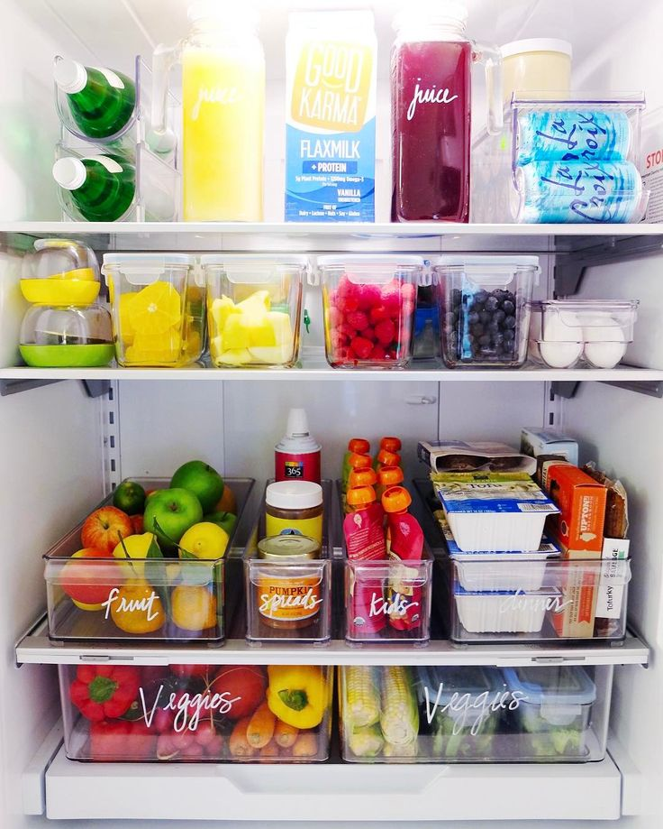 "4,724 Likes, 151 Comments - The Home Edit ® (@the_home_edit) on Instagram: ""An organized fridge is a game changer. You eat healthier, waste less, and don't over-buy at the…"""
